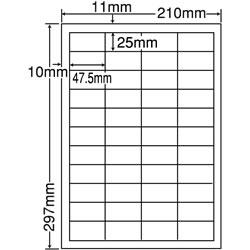 ナナ SCL-32 カラーレーザープリンタ用光沢ラベル