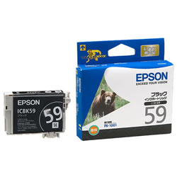 EPSON ICBK59 インクカートリッジ ブラック 純正
