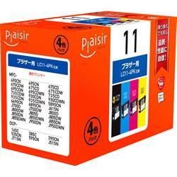 Plaisir PLE-BR114P インク 4色パック 汎用品