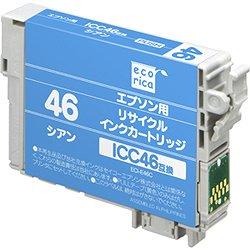 エコリカ ECI-E46C リサイクルインク シアン