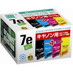 エコリカ ECI-CA07E4P/BOX リサイクルインク