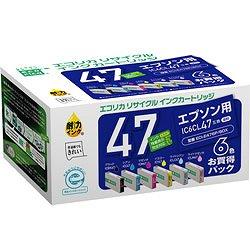 エコリカ ECI-E476P/BOX リサイクルインク 6色セット