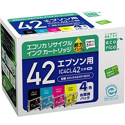 エコリカ ECI-E424P/BOX リサイクルインク 4色セット