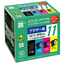 エコリカ ECI-BR114P/BOX リサイクルインク 4色セット