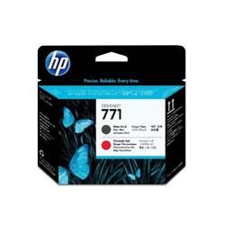 HP CE017A HP771 プリントヘッド マットブラック/クロムレッド 純正