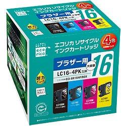 エコリカ ECI-BR164P/BOX リサイクルインク 4色セット