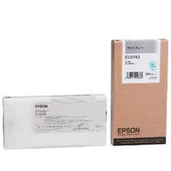EPSON ICLGY63 インクカートリッジ ライトグレー 純正