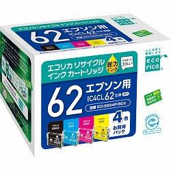 エコリカ ECI-E624P/BOX リサイクルインク 4色パック