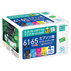 エコリカ ECI-E6165-4P リサイクルインク 4色パック