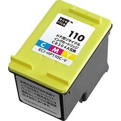 エコリカ ECI-HP110C-V リサイクルインク 3色カラー