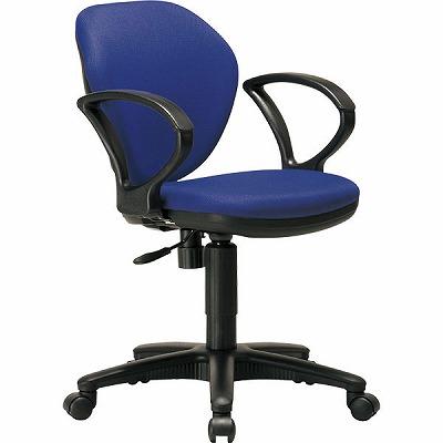 オフィスチェアー K-921(BL)肘付き ブルー