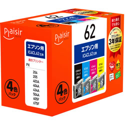 Plaisir PLE-E624P インク 4色パック 汎用品