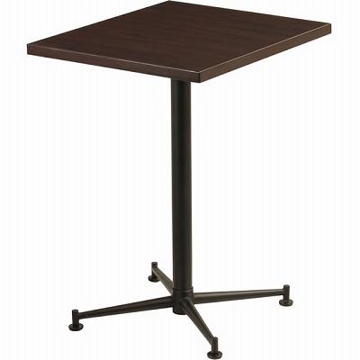 カフェテーブル 脚部:ブラック 天板:ブラウン