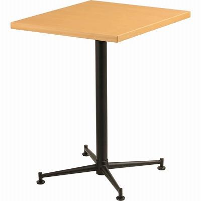 カフェテーブル 脚部:ブラック 天板:ナチュラル