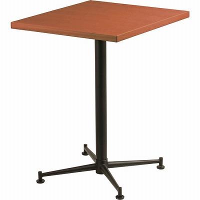 カフェテーブル 脚部:ブラック 天板:ハニーブラウン