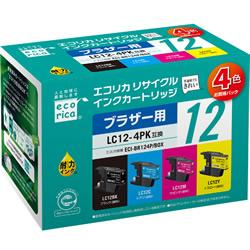 エコリカ ECI-BR124P/BOX リサイクルインク 4色パック