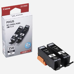 CANON 6552B005 BCI-350XLPGBK2P インクタンク(大容量) ブラック 2個パック