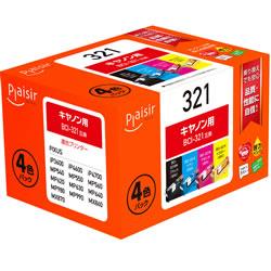 Plaisir PLE-CB3214P インクタンク 4色マルチパック 汎用品