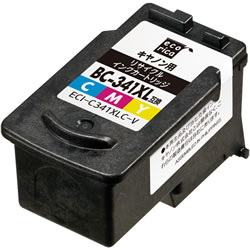 エコリカ ECI-C341XLC-V リサイクルインク 3色カラー