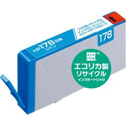 エコリカ ECI-HP178C-V リサイクルインク シアン