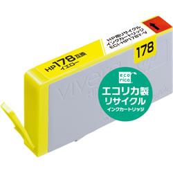 エコリカ ECI-HP178Y-V リサイクルインク イエロー