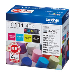 BROTHER LC111-4PK インクカートリッジ お徳用4色パック