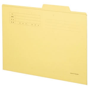TANOSEE OSA4-IF-C 個別フォルダー 両面クラフト A4 1セット