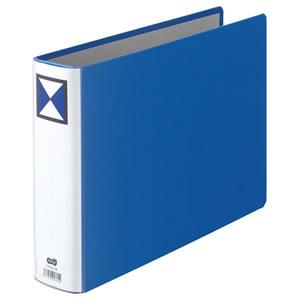 TPFA4E-5W 両開きパイプ式ファイル A4ヨコ 青 10冊 汎用品