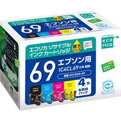 エコリカ ECI-E69-4P リサイクルインク 4色パック