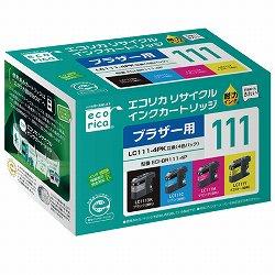 エコリカ ECI-BR111-4P リサイクルインク 4色パック
