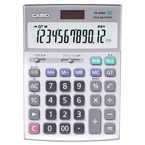 CASIO DS-20WK 電卓 12桁 デスクタイプ