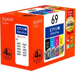 Plaisir PLE-E694P インクカートリッジ 4色パック 汎用品