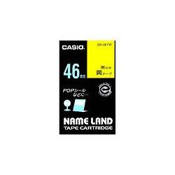 CASIO XR-46YW スタンダードテープ 46mm 黄 黒文字