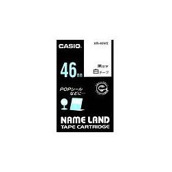 CASIO XR-46WE スタンダードテープ 46mm 白 黒文字