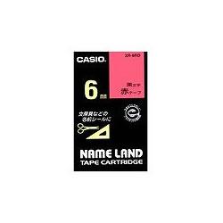 CASIO XR-6RD スタンダードテープ 6mm 赤 黒文字