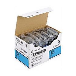 KINGJIM SC12B-5P テプラ PROテープカートリッジ カラーラベル パステル 青 5個エコパック