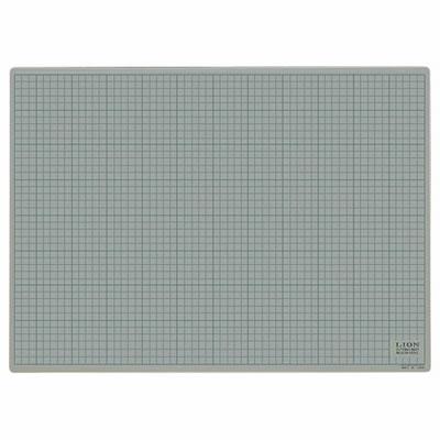 ライオン CM-6012 カッティングマット620×450 灰/黒
