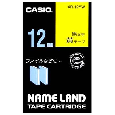 CASIO XR-12YW スタンダードテープ 12mm 黄 黒文字