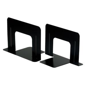 OR-291-D ブックエンド T型 ワイド ブラック 2枚1組 汎用品
