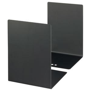 OR-259 ブックエンド L型 大 ブラック 1組(2枚) 汎用品