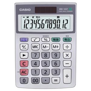 CASIO MW-12GT-N 特大表示電卓 12桁 ミニジャストサイズ