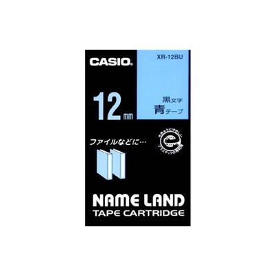 CASIO XR-12BU スタンダードテープ 12mm 青 黒文字