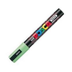 三菱鉛筆 PC5M.5 水性サインペン ポスカ 中字・丸芯 黄緑