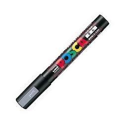 三菱鉛筆 PC5M.26 水性サインペン ポスカ 中字・丸芯 銀