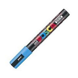 三菱鉛筆 PC5M.8 水性サインペン ポスカ 中字・丸芯 水色