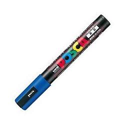 三菱鉛筆 PC5M.33 水性サインペン ポスカ 中字・丸芯 青
