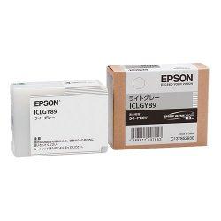 EPSON ICLGY89 インクカートリッジ ライトグレー 純正