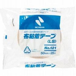 ニチバン 121-50 布粘着テープ No.121 中軽量物封かん用 50mm×25m黄土