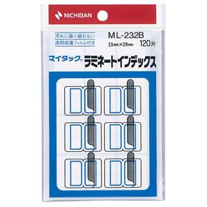ニチバン ML-232B マイタック ラミネートインデックス 保護フィルム付 中 23×29mm 青枠