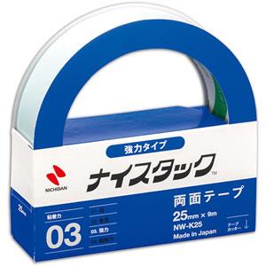 ニチバン NW-K25 ナイスタック 両面テープ 強力タイプ 大巻 25mm×9m